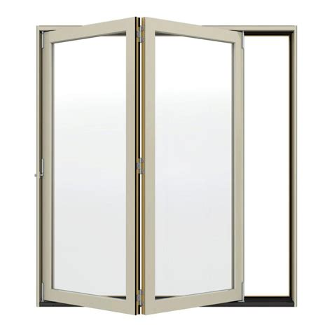 96 Patio Door Jeld Wen 74 5 In X 96 375 In W 4500 Series Left Folding Wood Patio Door Thdjw219000231