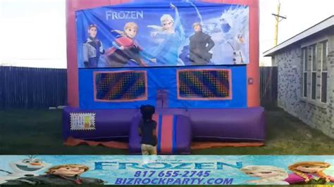 bounce house rental fort worth frozen bounce house rental fort worth arlington texas youtube