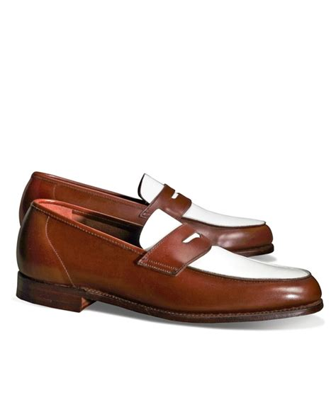 brown and white loafers the great gatsby collection white and brown spectator