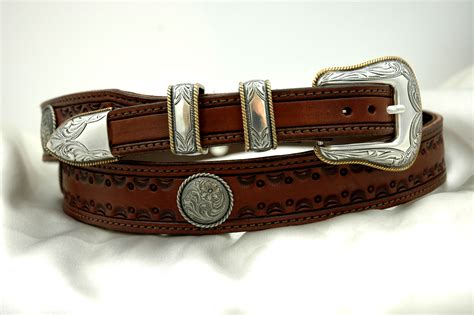 tooled western leather belts custom leather belts