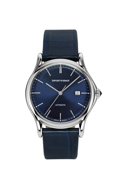 emporio armani swiss made watches in blue for lyst