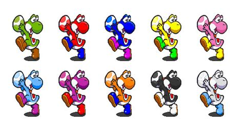 yoshi colors yoshi s color palette by nachonutria on deviantart