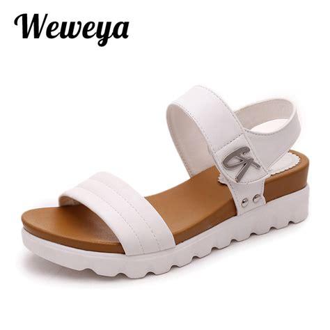 Suplier Wedges Heels aliexpress buy weweya 2017 summer gladiator sandals new brand wedges shoes