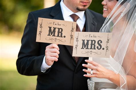 creative wedding ideas from etsy mr and mrs decor photobooth prop 2 onewed
