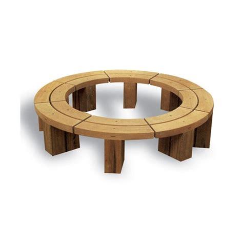 circular bench seating circular hardwood tree seat woodscape esi external works