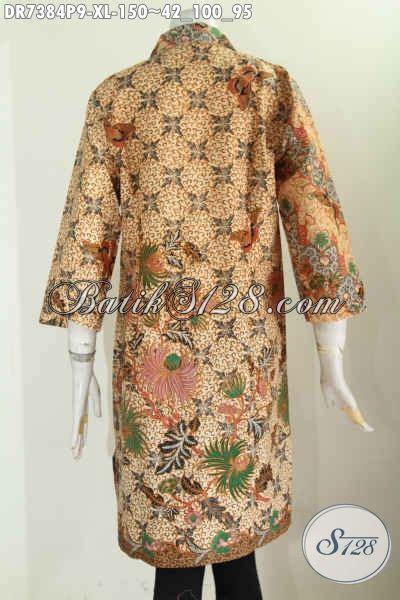 Pakaian Executive Wanita pakaian batik wanita dewasa karir aktif busana batik elegan berkelas dengan kerah lancip dan