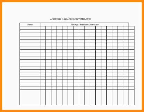 12 Printable Gradebook Template Invoice Exle Grade Sheet Template