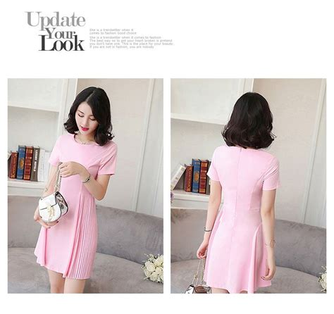 Dress Pink Wanita dress wanita korea warna pink terbaru jual model
