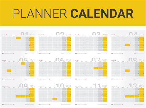 annual planner16 calendar vectors free vector in