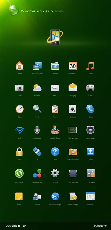 windows mobile 6 5 icons for windows mobile 6 5 by zerode on deviantart