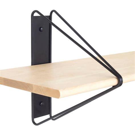 Black Wood Shelf by Set Of 4 Strut Shelves From Souda Modern Black Wood Wall
