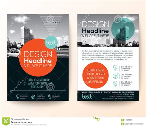 flyer graphic design layout poster flyer phlet brochure cover design layout stock