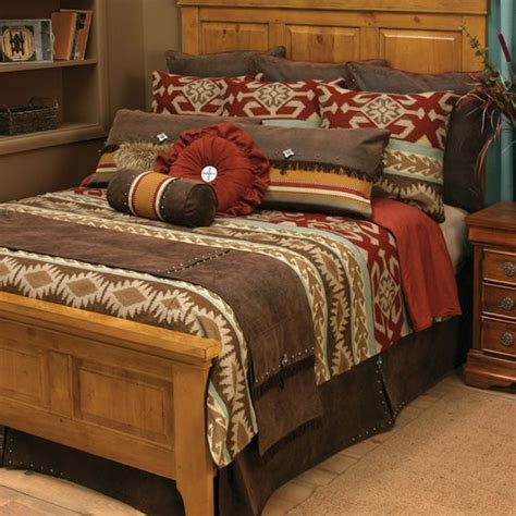 southwestern style bedding adobe vista bedding collection with a southwestern style