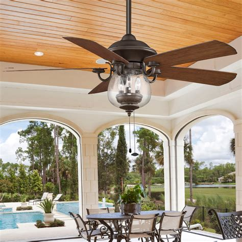 patio ceiling lights indoor outdoor cloche glass ceiling fan shades of light