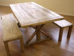 Wooden Kitchen Tables With Benches Shabby Chic Wooden Dining Table 2 Benches Garden Store