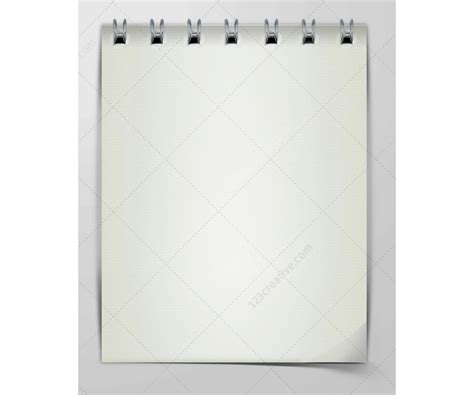 notepad design template notepad template notebook paper psd spiral notebook