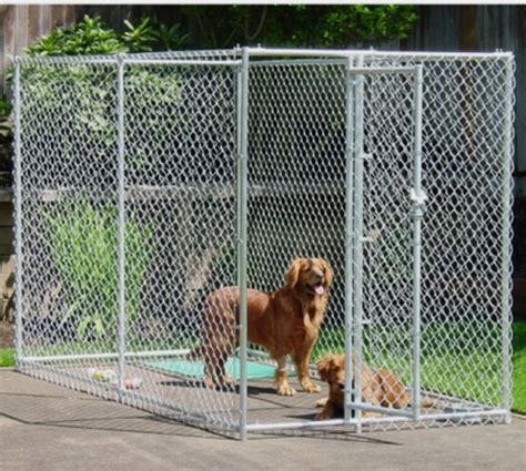 chain link pens new chain link kennel enclosure pen 5 x 10 x 6 high galvanized steel frame ebay