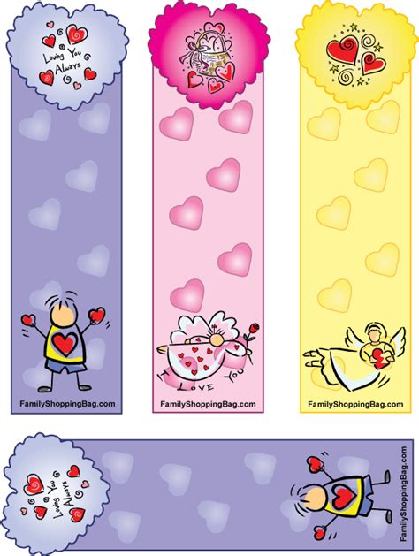 printable heart bookmarks beautiful colorful heart bookmarks 113374 gif