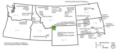 map of national parks in northwest us associated tribes yellowstone national park u s
