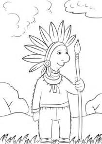 printable version in hindi cartoon indian chief coloring page free printable