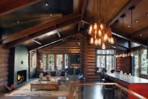 Modern Log Home Interiors Modern Log Cabin Interior Design