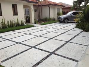 we specialize in modern rectangle concrete driveways yelp