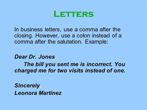 cover letter salutation colon or comma letter salutation comma or colon business letter colon or
