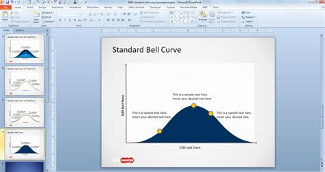 free standard bell curve template for powerpoint free
