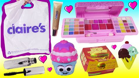 My Items From Claires 4 by S Haul Cheeseburger Makeup Pucker Pops Blind Bag