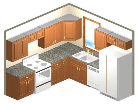 10 By 10 Kitchen Cabinets by 10 X 8 Kitchen Layout Home Design