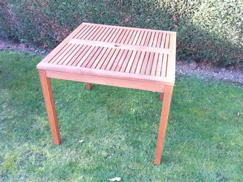 Fsc Solid Eucalyptus Wood 90cm Square Patio Table Outdoor Fsc Outdoor Furniture