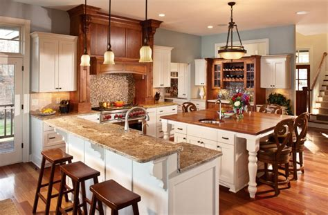 Two Level Kitchen Island Designs Ideas Extraordinary Square Kitchen Island With Seating And Two Level In