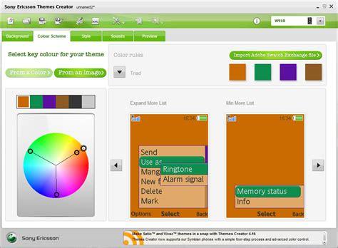 lg themes maker sony ericsson theme creator media player skin editor u47