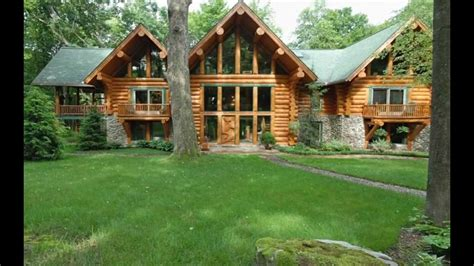 for sale beautiful log cabin located in deer lake
