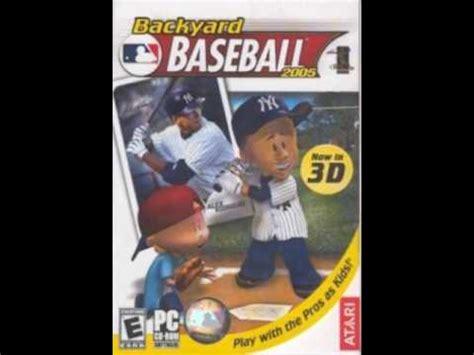 dante robinson backyard baseball backyard baseball 2005 music dante robinson youtube