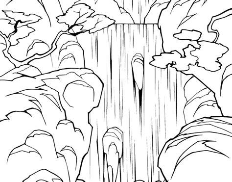 imagenes de rios faciles para dibujar dibujo de cascada para colorear dibujos net