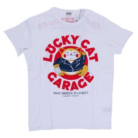edwin lucky cat garage t shirt white mens t shirts from