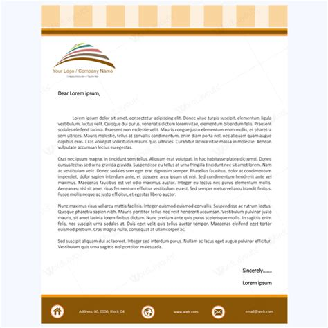 letterhead word template 5 letterhead word templates best for any business