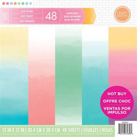 Craft Paper Pads - new from craft smith dip dyed printed paper pad