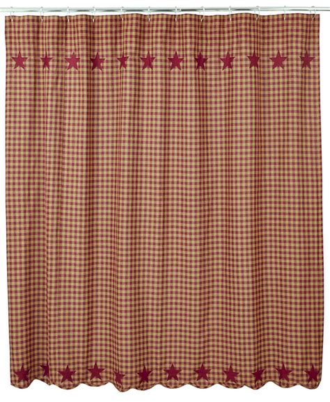 Burgundy Star Shower Curtain By Nancy S Nook For