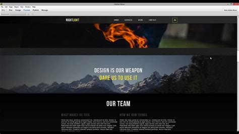 muse cc templates adobe muse cc motion scroll parallax tips tricks