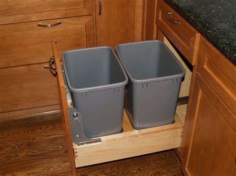 kitchen cabinet waste bins under cabinet trash can holder best home furniture
