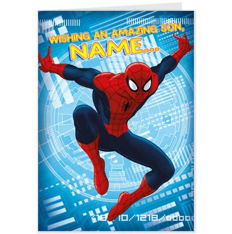 Printable Birthday Card Spiderman | spiderman thank you cards printable new calendar