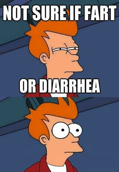 Not Sure Fry Meme - funny photos funny pics not sure if fart or diarrhea