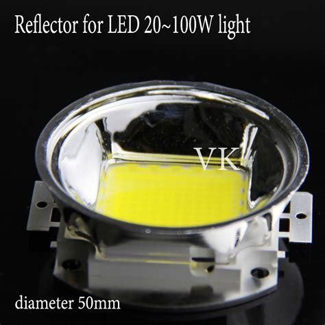 led len 5pcs 60 degree led lens reflector cup 50mm base plus