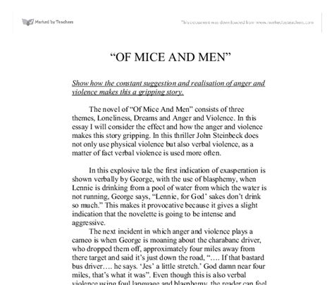Of Mice And Themes Essay by Of Mice And Dreams Essay Of Mice And Friendship Theme Essay If I Could Travel In Time