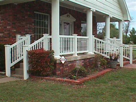 Porch Banister by Porch Stair Railing Midland Vinyl Products