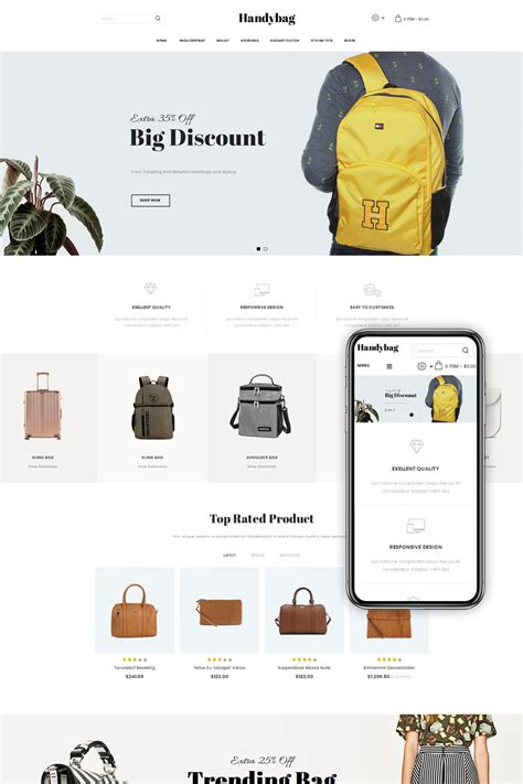 Purse Store handybag purse store opencart template 71993