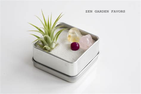 zen garten miniatur set diy mini zen garden favor kits 183 ruffled