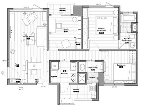 bedroom modern apartment design   square meters  great examples